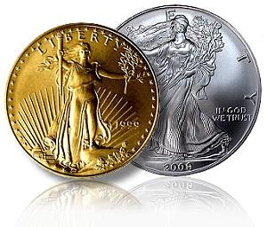 gold silver liberty coins - 300x256