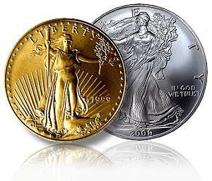 gold silver liberty coins - 300x256